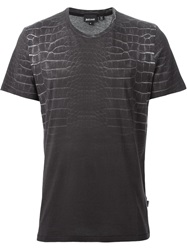 Just Cavalli Crocodile Print T Shirt Grey