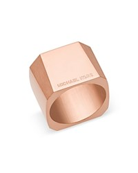 Michael Kors Chunky Faceted Ring Rose Gold
