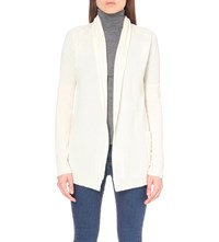 The Kooples Longline Cashmere Cardigan White