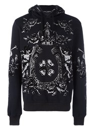 Dolce And Gabbana Printed Hoodie Grey