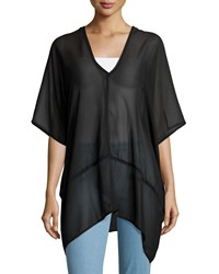 On The Road Dean V Neck Sheer Tunic Black Women's