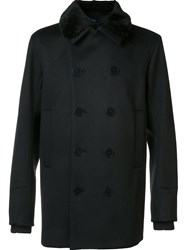 Oamc Double Breasted Coat Black