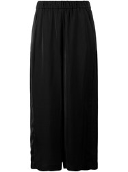 Vince Cropped Wide Leg Trousers Black