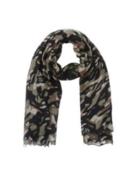 Destin Oblong Scarves Military Green