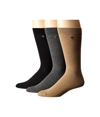 Sperry Casual Crews 3 Pack Marl Black Griffin Gray Men's Crew Cut Socks Shoes Multi