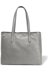 Stella Mccartney The Falabella Faux Brushed Leather Tote Light Gray