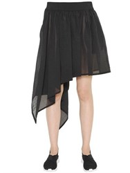 Y 3 Asymmetrical Fluid Nylon Skirt