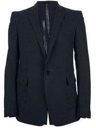 Carol Christian Poell Contrast Single Button Blazer Black