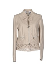 Patrizia Pepe Coats And Jackets Jackets Women Beige