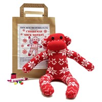 Sock Creatures Christmas Monkey Kit Red White