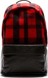 Mcq By Alexander Mcqueen Red Tartan Black Leather Backpack