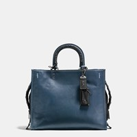 Coach Rogue In Glovetanned Leather With Western Whiplash Detail Black Copper Prussian Black