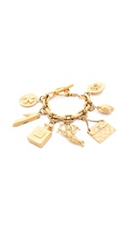 Wgaca Turtle Cupid Charm Bracelet Previously Owned Gold