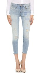 J Brand Low Rise Crop Skinny Jeans Halo Destruct