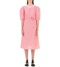 Paskal Puff Sleeve Cotton Dress Red Vichy