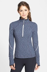 Zella 'My Run Layer' Half Zip Top Gray