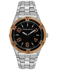 Sean John Men's Silver Tone Bracelet Watch 51Mm 10026862