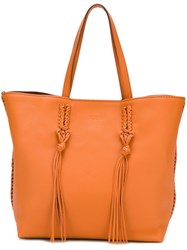 Tod's Shopper Tote Yellow And Orange