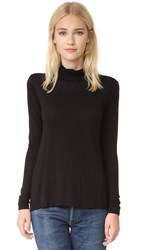 Velvet Waverly Luxe Slub Turtleneck Black