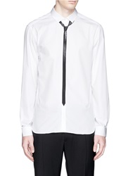 Neil Barrett Herringbone Tie Print Shirt White
