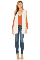 Bishop Young Faux Fur Vest Ivory