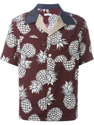 Valentino Pineapple Print Shirt Red