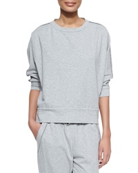 Brunello Cucinelli Shimmer Trimmed French Terry Sweatshirt Pearl