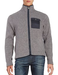 Brooks Brothers Marled Knit Jacket Grey