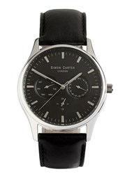 Simon Carter Stainless Steel Chronograph Watch Black