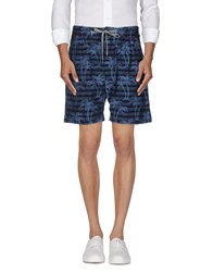 Pence Trousers Bermuda Shorts Men Blue