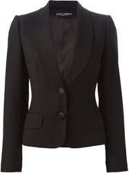 Dolce And Gabbana Shawl Lapel Blazer Black