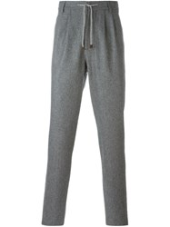Brunello Cucinelli Drawstring Tailored Trousers Grey