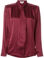 Louis Feraud Vintage Striped Shirt Red