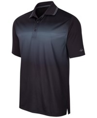 Greg Norman For Tasso Elba Men's Ombre Performance Polo Only At Macy's Deep Black