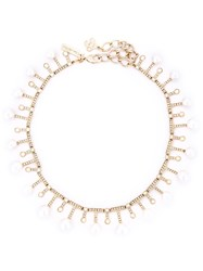 Oscar De La Renta Pearl Necklace Metallic