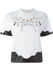 Toga Pulla Metal Applique T Shirt White
