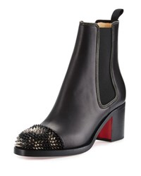Christian Louboutin Otaboo Spike Toe 70Mm Red Sole Bootie Black