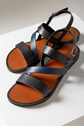 Urban Outfitters Cooper Leather Colorblock Sandal Black