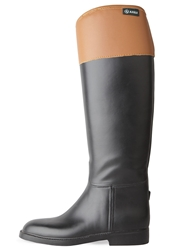 Aigle Jumping Ii Rain Boot Noir And Natural