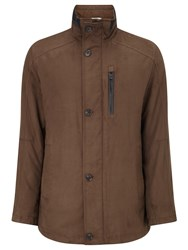 Bugatti 82Cm Microma Velours Jacket Brown