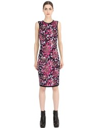 Versace Leopard Jacquard Compact Knit Dress