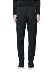Givenchy Slim Fit Wool Gabardine Jogging Pants Black