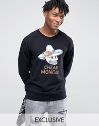 Cheap Monday Skull Hat Sweater Black