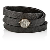 Feathered Soul Women's Unbreakable Disc And Leather Wrap Bracelet No Color