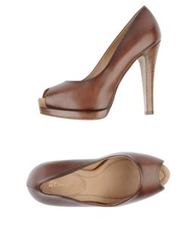 Eva Turner Pumps With Open Toe Brown