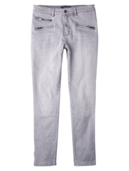 Violeta By Mango Slim Fit Vicky Jeans Open Grey