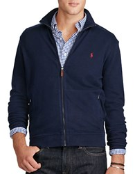 Polo Ralph Lauren Ribbed Cotton Full Zip Jacket Cruise Navy