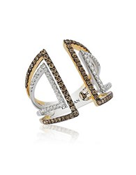 Le Vian Chocolatier Vanilla And Chocolate Diamond 14K White And Yellow Gold Ring Two Tone