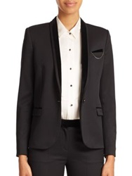 The Kooples Stretch Smoking Blazer Black