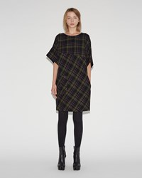 Maison Martin Margiela Light Tartan Wool Dress Black Plaid